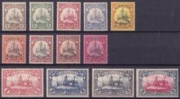 Karolinen German), Issue 1900/10, 4 Values (including 5 Mark Hinged), Others MNH, Good Quality - Colony: Caroline Islands