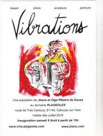 JHANO = Jean Lavat - Exposition Vibrations Domaine Plageoles Cahuzac Sur Vere - Accordeon - CPM 10,5x15 TBE 2016  Neuve - Illustrators & Photographers