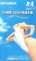 Télécarte Japon * EROTIQUE *   (6512) *  EROTIC PHONECARD JAPAN * TK * BATHCLOTHES * FEMME SEXY LADY LINGERIE - Mode
