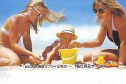 Télécarte Japon * EROTIQUE *   (6525)  *  EROTIC PHONECARD JAPAN * TK * BATHCLOTHES * FEMME SEXY LADY LINGERIE - Mode