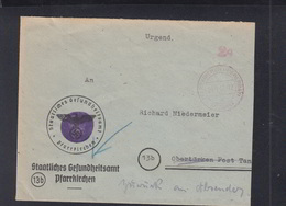Brief Gebühr Bezahlt Pfarrkirchen 1945 Zurück - Zona Anglo-Americana