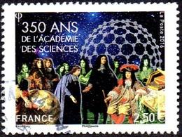 Oblitération Cachet à Date Sur Timbre De France N° 5074 Académie Des Sciences - Mappemonde Globe - - Used Stamps