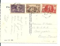 Carte Paris/Arc De Triomphe Avec Chômeurs Intellectuels,Génie Militaire Et PTT, 1939 - France
