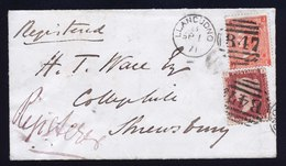 A6246) UK Great Britain Reg Cover Llandudno 09/01/71 To Shrewsbury - 1840-1901 (Regina Victoria)
