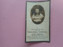 D.P.-CLEMENTIA -H.VANHUYSSE °OOSTENDE 7-11-1841+ALDAAR 3-4-1932 - Religion & Esotérisme
