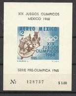 Mexique Bloc N° 4 J.O. Mexico Série Pre Olympique 1965 Sports Mayas Neuf  ( * ) TB  Soldé à Moins De 20 %  ! ! ! - Summer 1968: Mexico City
