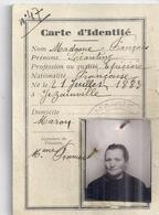 CARTE D'IDENTITE N°47- MARON   13 MARS 1940 - Sin Clasificación