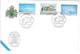 SAN MARINO 2008  - ANNO POLARE INTERNAZIONALE - ANIMALI PINGUINI   - SERIE COMPLETA SU  FDC - Saint-Marin