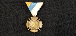 Médaille 1920 Commémorative De La Guerre De Serbie 1914-1918  Pierre Ier Roi Des Serbes Inscription En Cyrillique Aigle - Medals