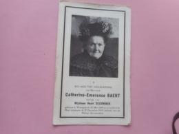 D.P.-107 JARIGE-CATHERINE-E.BAERT °WAREGEM 25-5-1848+ALDAAR 27-12-1955 - Religione & Esoterismo