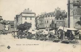 CPA 19 Corrèze Tulle La Place Du Marché - Tulle