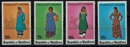 Malediven 1979 - Trachten  Folk Costume - Frauentrachten - MiNr 833-836 - Kostüme