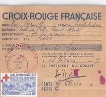 CROIX ROUGE FRANCAISE - CARTE N° 525,423  SERIE C  LA CIOTAT  1947 - Sin Clasificación