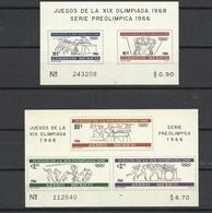 Mexique Blocs N°5  Et 6 J.O. Mexico Série Pre Olympique 1966 Sports Divers  Neufs  * * TB   Soldé à Moins De 20 %  ! ! ! - Summer 1968: Mexico City