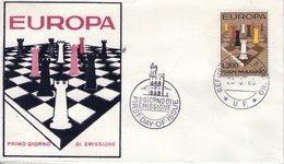 Saint Marin. Enveloppe Fdc. Europa 1965 - FDC