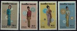 Thailand 1972 - Trachten  Folk Costume - Frauentrachten - MiNr 639-642 - Kostüme