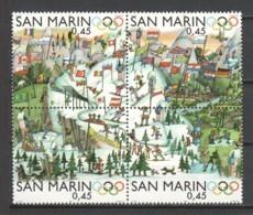 San Marino 2006 Mi 2249-2252 MNH WINTER OLYMPICS TORINO 2006 - Winter 2006: Torino