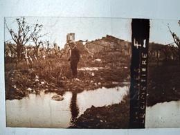 Guerre 1914-18 - ESNES (55) - Le Cimetière - Plaque De Verre StéréoscopiqueTBE - Plaques De Verre