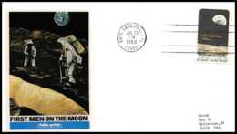 5268/ Espace (space) Lettre (cover) 20/7/1969 Apollo 11 First Men On The Moon USA - Covers & Documents