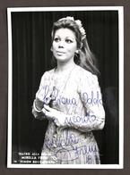 Musica Lirica - Autografo Del Soprano Italiano Mirella Freni - 1973 - Autografi