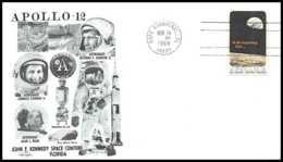5331/ Espace (space) Lettre (cover) 14/11/1969 Apollo 12 Kennedy Center USA - Estados Unidos