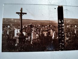 Guerre 1914-18 - ESNES (55) -  Le Calvaire - Ruines -- Plaque De Verre StéréoscopiqueTBE - Plaques De Verre