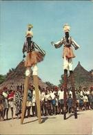 (AFRIQUE)(GUINEE)( ETHNIE ET CULTURE )( N ZO ) ( DANSEURS SUR ECHASSES ) - Guinea