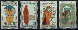 Tunesien Tunesie 1963 - Trachten  Folk Costume - MiNr 623-626 - Kostüme