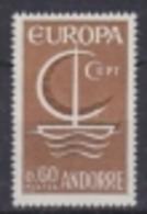 Europa Cept 1966 Andorra 1v ** Mnh (43324A) Promo - Europa-CEPT