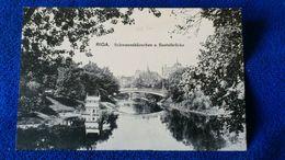Riga Schwanenhäuschen U. Basteibrücke Latvia - Lettonia
