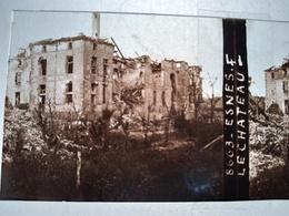 Guerre 1914-18 - ESNES (55) -  Le Chateau - Ruines -- Plaque De Verre StéréoscopiqueTBE - Plaques De Verre