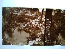 Guerre 1914-18 - ESNES (55) -  Le Ruisseau - Ruines -- Plaque De Verre StéréoscopiqueTBE - Plaques De Verre