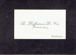 GOEFFERDINGEN 1913 OUDE VISITEKAARTJE - G. HOFFMANN - DE VOS - Instituteur - Cartoncini Da Visita