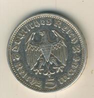 Deutsches Reich 1936,5 Reichsmark, Hindenburg,Silber (27) - [ 4] 1933-1945 : Third Reich