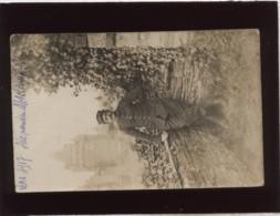 Un Militaire106 Sur Le Col 306 Sur La Casquette Carte Photo  Alexandre Marquer Vers 1917 Chateau De Vitréphotofranco Bel - Guerre 1914-18