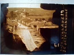Guerre 1914-18 -  Village De Bethelainville - Ruines - Plaque De Verre StéréoscopiqueTBE - Plaques De Verre