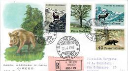 ITALIA 1967 -PARCHI NAZIONALI -   FDC - 6. 1946-.. Republic