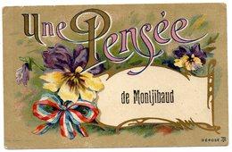 CPA   19    MONTGIBAUD    ECRIT MONTJIBAUD        1918          UNE PENSEE - Altri Comuni