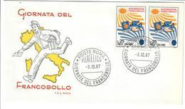 ITALIA 1967 - IX GIORNATA DEL FRANCOBOLLO -   FDC - 6. 1946-.. Republic