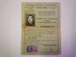 GP 2019 - 1675  PERMIS De CONDUIRE Les Bateaux à Moteur Avec Timbre Fiscal  50,00 NF 1971  XXXX - Vieux Papiers