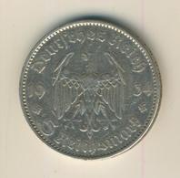 5 Reichsmark 1935,A, Garnisonskirche ,Silber 900/1000  (30) - [ 4] 1933-1945 : Third Reich