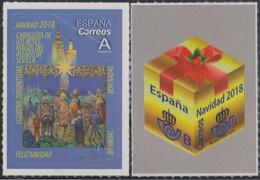 ESPAGNE SPANIEN SPAIN ESPAÑA 2018 CHRISTMAS NAVIDAD SET 2V. ED 5263-64 - 1931-Heute: 2. Rep. - ... Juan Carlos I