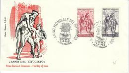 ITALIA 1960 - ANNO MONDIALE DEL RIFUGIATO  -   FDC - 6. 1946-.. Republic
