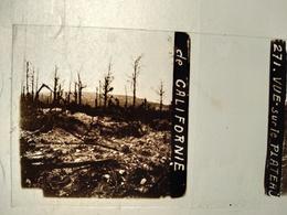Guerre 1914-18 - Vue Sur Le Plateau De Californie - Plaque De Verre StéréoscopiqueTBE - Plaques De Verre