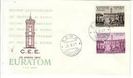 ITALIA 1967 - TRATTATI DI ROMA   -   FDC - 6. 1946-.. Republic