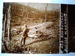 Guerre 1914-18 - DOUAUMONT - Blessé Allemand - Plaque De Verre StéréoscopiqueTBE - Plaques De Verre