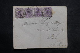 ALLEMAGNE - Affranchissement De Werthofen Sur Enveloppe Pour Paris En 1889 - L 33967 - Briefe U. Dokumente