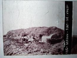 Guerre 1914-18 - VERDUN - Fort De Vaux - Plaque De Verre StéréoscopiqueTBE - Plaques De Verre