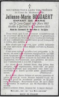 En 1933 Saint Jans Cappel - (59) Julienne BODDAERT Enfant De Marie Née 1883 - Décès