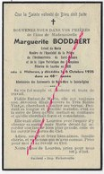 En 1935 Méteren - (59) Marguerite BODDAERT Enfant De Marie Saint Rosaire Et Ligue Pélerines De Lourdes - Décès